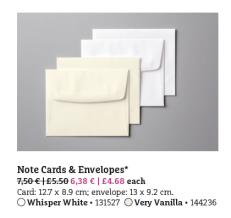 note cards + envelopes