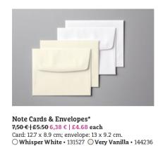 note cards + envelopes